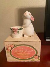 Avon Bunny Bright Ceramic Candle Holder - 1980