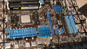 Asus M5A97 Rev1 + AMD Fx8150 8 core Prozessor + 16 GB Corsair DDR3 RAM Bundle
