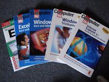 4 Stück Computerbild Taschenbücher aus dem Ullstein Verlag + 1 EXCEL  Lernbuch