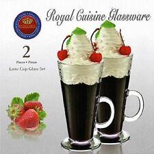 Set of 2 Royal Cuisine Latte Glasses Hot Chocolate Cappuccino Tea Coffee Mug Cup