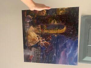 thomas kinkade beauty and the beast canvas 14x14