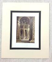 1906 Antico Stampa Durham Cathedral Interno The Navata Vecchio Inglese