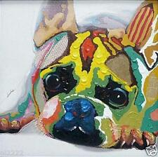 YAKAI Modern Abstract Animal oil painting Lovely dog Hand Painted on canvas 20in