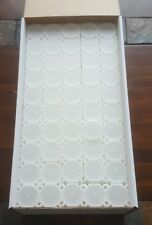 One Brand New Box of 100 Coinsafe Stackable Durable Hard Plastic Halves Tubes!!