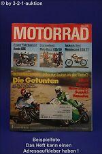 Motorrad 4/78 Honda CBX Moto Guzzi Ducati 750 SS