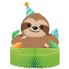 Sloth Party Honeycomb Centrepiece Party Table Decoration Animal Zoo Sleepy Sloth