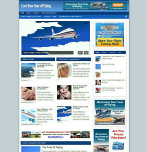 CURE YOUR FEAR OF FLYING HELP AFFILIATE WEBSITE WITH NEW DOMAIN + HOSTING