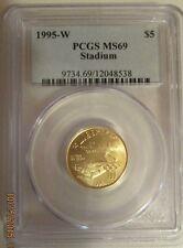 1995W U. S. XXVI Olympiad Atlanta Stadium Gold $5. PCGS MS69 graded 25% off