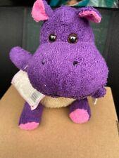 """Happy Scrubbies Hippopotamus 8"""" Terry Cloth Plush Washcloth Tender Loving Things"""