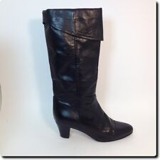 Raspini Shoes from Italy Black Leather cuffed Boots Shoe 37 6.5