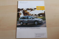 81525) Opel Zafira 1.6 CNG Prospekt 03/2002