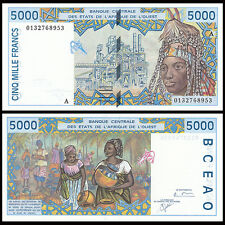 West African States Ivory Coast 5000 5,000 Francs, 2001, P-113AK, banknote, UNC