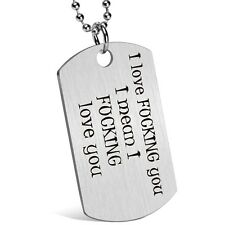 Gift for Boyfriend Husband Personalized Dating Whisper Dog Tag Necklace Pendant