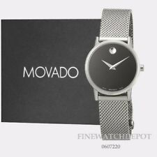 Authentic Movado Women's Museum Classic Black Stainless Steel Watch 0607220