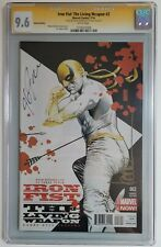 Iron Fist The Living Weapon #2 Variant CGC 9.6 Signed by J.G Jones Kaare Andrews
