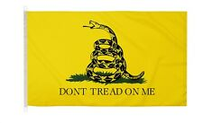 More details for duraflag  gadsden usa 5ft x 3ft flag with clips and hooks