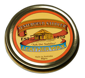Australian Tenterfield Saddler Leather Wax 80g Cleaning and care of all leather