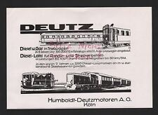 KÖLN, Werbung 1935, Humboldt-Deutz-Motoren AG Eisenbahn