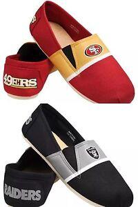 NFL Team Logo Men's Slip On Canvas Shoes - Pick your Team!
