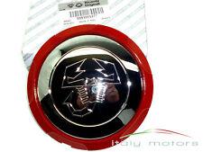 FIAT 500/500c ABARTH CERCHI ORIGINALI COPERCHIO SCORPIONE CROMO BORDO ROSSO 51895377