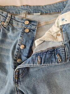 Ladies Denim Jeans &Denim Size 14 Mom Highwaist Button Fly Blue N.o 1066