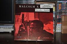 "MALCOM X SPEAKS AGAIN LP 33 GIRI 12"""