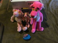 4 Fabulous Pink Panther Collectible Toys Large & Small - Plush & More - Look!