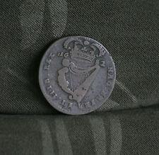 1682 Ireland 1/2 Penny Copper World Coin Irish Charles II Harp Crown Ire Rare c