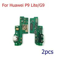 2pcs OEM Charging Port Dock USB Connector Flex Cable For  Huawei P9 Lite/G9
