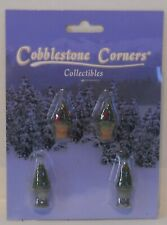 Cobblestone Corners Collectibles - 4 Potted Bushes (O / O-27)