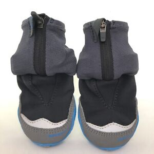 "Ruffwear Polar Trex Winter Dog Boots 2.0"" 70mm Obsidian Black Blue 2 Boots NWOT"