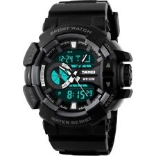 SKMEI 1117 Military Sports Analog Digital Watch for Men 50M Water Resistant