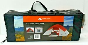 New Ozark Trail 4 Person Dome Tent Camping Outdoor Family Outings Picnic Hiking