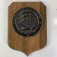Vintage USS George Bancroft Submarine SSBN 643 Wood Resin Plaque USN Navy