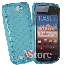 Cover for SAMSUNG GALAXY W i8150 Blue Silicone