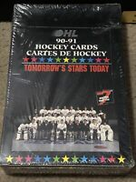 1990-91 OHL Hockey Cards SEALED BOX, Case FRESH!, 36 Packs, 7th Inning Sketch