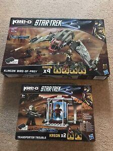 Star Trek Kre-o Kreo Klingon Bird of Prey & Transporter Trouble Set All Complete