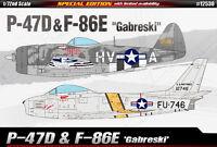 1/72 P-47&F-86E Gabreski SPECIAL EDITION #12530 ACADEMY MODEL