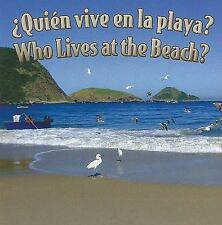 Quien vive en la playa? / Who Lives At The Beach? (Rourke Board Books)-ExLibrary
