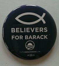 Official Obama Campaign BELIEVERS FOR BARACK Button / Pin