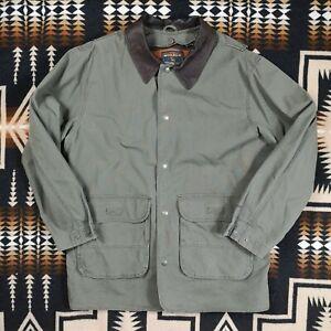 Woolrich Wool Blanket Lined Loden Barn Coat Jacket Detachable Lining 176