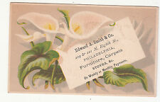 Edward A Smith Furniture Carpets Stoves Philadelphia Flower Vict Card c1880s