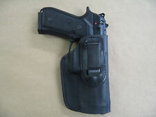 Taurus Pt 92, 99, 100, 101 IWB Leather In Waistband Concealed Carry Holster BLK