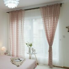 Lace Embroidery Tulle Curtain Fabric Crochet Net Sheer Panel Drape Country Decor
