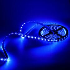 5050 SMD 5M Waterproof 300LED 60LED/M Blue Flexible Light Strip 12V Black PCB