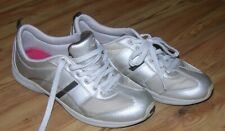 Women's Easy Spirit Tan Leather & Canvas Tennis Shoes Casual Lace Up Size  9