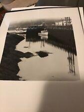 Black And White 11x14 Photograph Vintage  Photographer Boat Harbor Marina