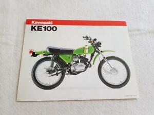 KAWASAKI KE100 MOTORCYCLE Sale Specification Leaflet c1981 #99943-1206 X-VII