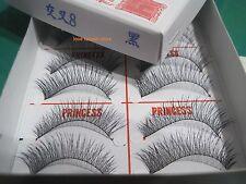 1 Box-New Original PRINCESS LEE Handmade False Fake Eyelash- X8 Black (10 Pairs)