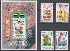 DOMINICA 1988 OLYMPIC GAMES SET & MINATURE SHEET MINT NEVER HINGED